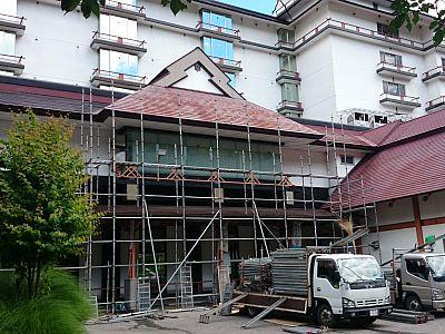 屋根の補修工事のお知らせ