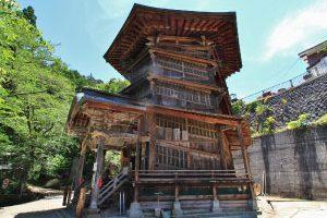 会津さざえ堂 (国指定重要文化財)